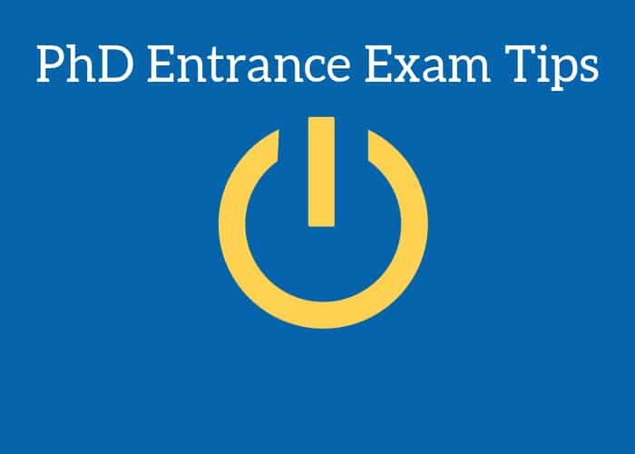 Crack PhD entrance exam