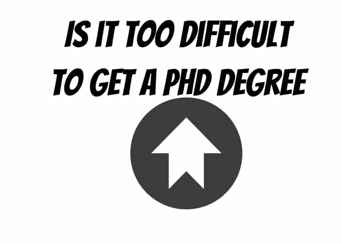 Difficult PhD