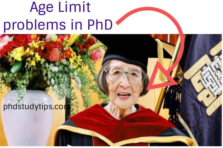 age limit for phd doctorate in India