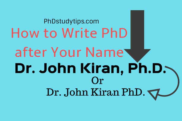 writing a PhD title after name