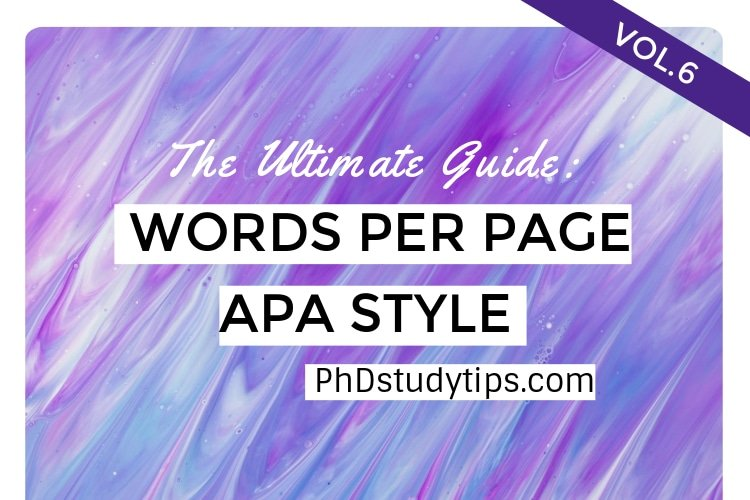 How many words per page in apa format