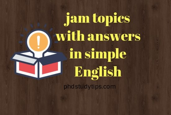 jam topics with answers in simple english